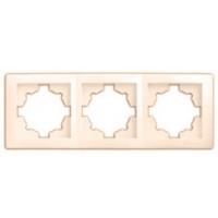 Рамка потрійна DELUX WEGA крем 9303