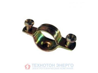 Cкоба металлическая двухкомпонентная  d. 25-26мм IEK (100)