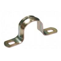 Cкоба металлическая двухлапковая d. 21-22мм IEK (100)