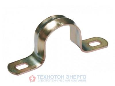 Cкоба металлическая двухлапковая d. 38-40мм IEK (100)
