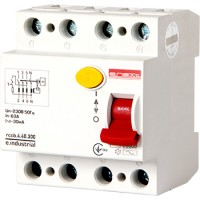 Выключатель дифференциального тока e.industrial.rccb.4.25.100, 4p, 25A, 100mA