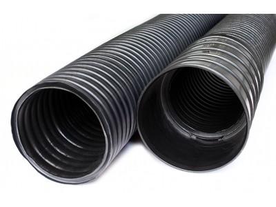 Труба для подземной прокладки кабеля 40мм с протяжкой в комплекте с муфтой черная ДКС 121940A