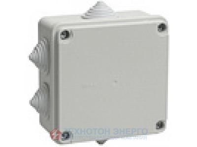 Коробка распаечная для открытой проводки 100х100х50 IP44 6 гермовводов КМ41233 IEK (8)