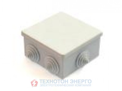 Коробка IEK распаечная для открытой проводки 85х85х40 IP44 6 гермовводов КМ41235 (10)