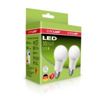 Светодиодная лампа A60 10W E27 4000K 2шт. EUROLAMP MLP-LED-A60-10274(E)