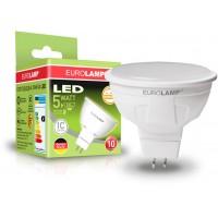 Світлодіодна лампа EKO MR16 5W GU5.3 4000K EUROLAMP LED-SMD-05534(D)