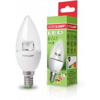 Світлодіодна лампа EKO CL 6W E14 4000K EUROLAMP LED-CL-06144(D)
