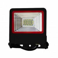 Прожектор чорний з радіатором LED SMD 20W 6500К 1800Lm  EUROLAMP LED-FL-20(black)new