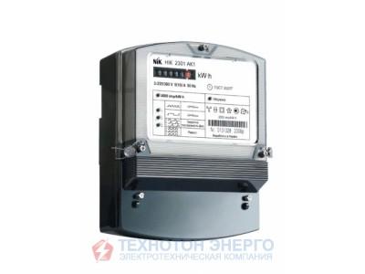 Счетчик НИК 2301 АК1 В 3х220/380 5(10)А 3ф. електромеханический, однотарифный